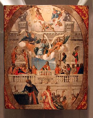Heptanese School (painting) - Liturgy of St Spyridon by Panagiotis Doxaras, Byzantine museum, Athens