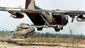 Airdrop - Image: C 130 airdrop