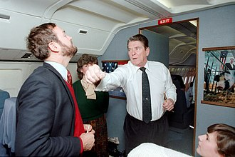 Dana Rohrabacher - President Ronald Reagan faking a punch to Dana Rohrabacher aboard Air Force One and trip back to California in 1986