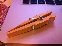 definition of clothespin