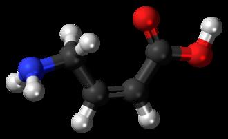 (Z)-4-Amino-2-butenoic acid - Image: CACA 3D balls