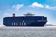 Port of charleston wikipedia the cma cgm theodore roosevelt a 14414 teu vessel arrives in charleston harbor with only blue containers visible following a celebratory voyage to the malvernweather Images
