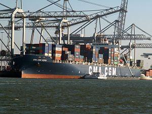 CMA CGM Verdi IMO 9280653 , at the Amazone harbour, Port of Rotterdam, Holland 25-Feb-2006.jpg