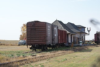 Saskatchewan Railway Museum - Image: CNR Boxcar GTP Shed Station