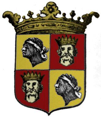 Kingdom of the Algarve - 1666 coat of arms of the Algarve