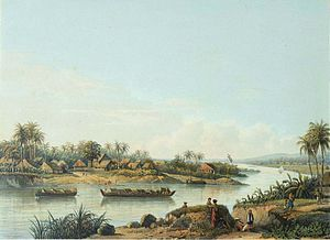 Solo River - Vessels on Solo river during colonial period.