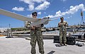 CRS 2 sailors conduct a system check of an RQ-20B Puma during visit to U.S. Naval Base Guam by Palau Vice President and his delegation - 1.jpg