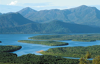 Hinchinbrook Channel - Channel and island seen from mainland