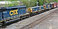 CSX Transportation - 1006 & 2443 diesel locomotives (Marion, Ohio, USA) 1 (43174287112).jpg