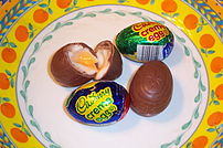 Cadbury Creme Eggs are fondant-filled chocolat...