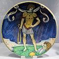 Cafaggiolo, coppa con david, 1520-30 ca..JPG
