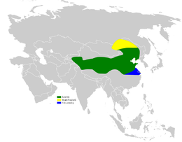 Calandrella cheleensis distribution map.png