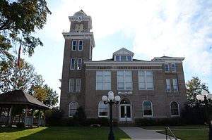 National Register of Historic Places listings in Calhoun County, Arkansas - Image: Calhoun County Courthouse, Hampton, AR