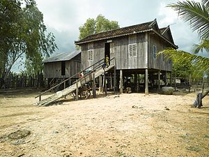 Culture of Cambodia - Rural style house in Cambodia