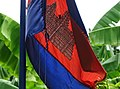 Cambodian Flag on Pole - Koh Trong Island - Mekong River - Kratie - Cambodia (48393102987).jpg