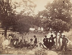 Camp of Captain Hoff, Rear View, Gettysburg, Pennsylvania MET DP254766.jpg