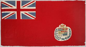 Flag of Canada - An early example of a Canadian Red Ensign, 1876