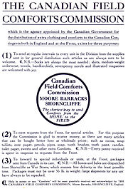 Canadian field comforts commission