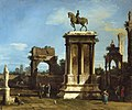 Canaletto (Venice 1697-Venice 1768) - The Colleoni Monument in a Capriccio Setting - RCIN 404415 - Royal Collection.jpg