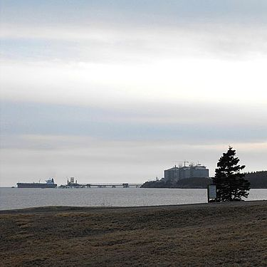 Canaport in New Brunswick, Canada is a tidewater petroleum facility CanaportLNG Long7.jpg