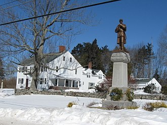 Candia, New Hampshire - Civil War monument on High Street