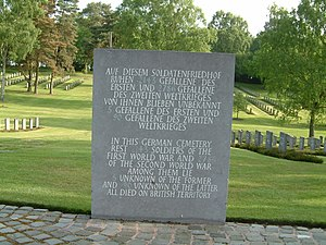 Cannock Chase German Military Cemetery - Cannock Chase German Military Cemetery - Burial details June 2015