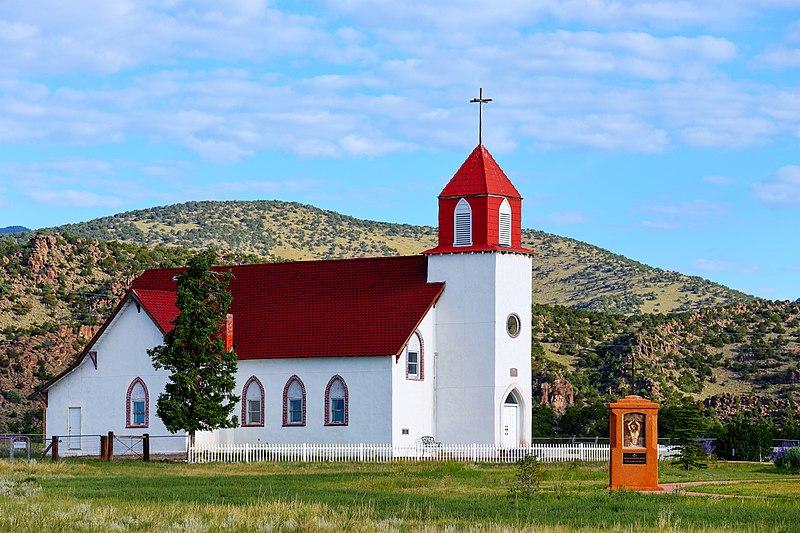Capilla de San Juan Bautista, a church in La Garita, Colorado.