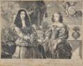 Carlos II de Inglaterra e Dona Catarina de Bragança (gravura holandesa, 3.º quartel do século XVII).png