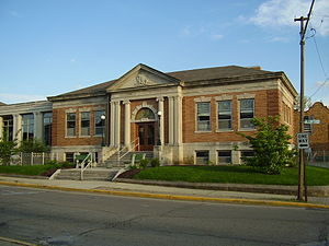 Greencastle, Indiana - Putnam County Public Library in Greencastle; Formerly Carnegie Public Library