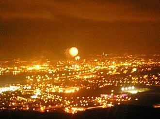 Carnmoney - Image: Carnmoney Hill by night