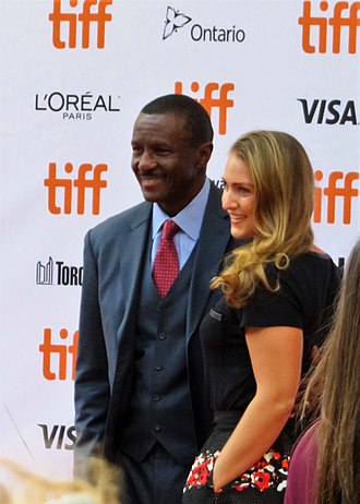Dwane Casey - Casey (left) and his wife at the 2017 TIFF.