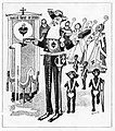 Cartoon depicting King Leopold 2 of the Belgians laying the first stone of the Basilica of Koekelberg.jpg