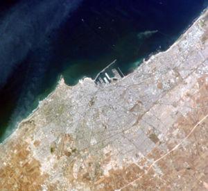 Timeline of Casablanca - Satellite view of Casablanca, circa 2005