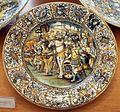 Castelli, attr. a francesco grue, piatto, post 1650 ca. condottiero in battaglia.jpg