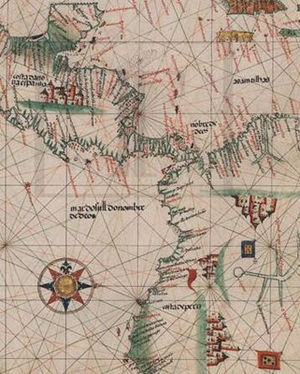 João de Lisboa - Portuguese flags in castles on Peru - Seamanship Treatise (1514)
