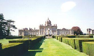 English landscape garden - Castle Howard (1699–1712), a predecessor of the English garden modelled on the gardens of Versailles