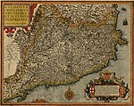Principality of Catalonia, printed in Antwerp in 1608 by Jan Baptist Vrients