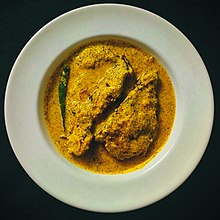 Fish cooked in mustard gravy