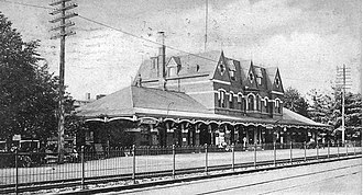 Plainfield station - Plainfield station in 1907