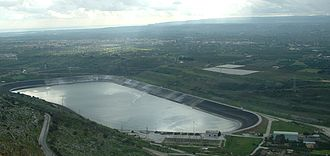 Anapo - The hydroelectric station of Anapo near Solarino.