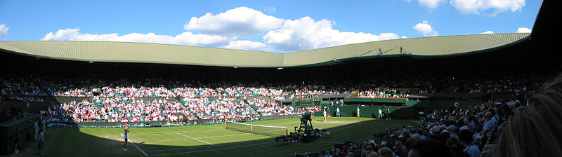 Image of Centre court during Wimbledon