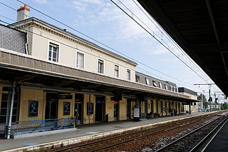 railway station in Châteauroux, France