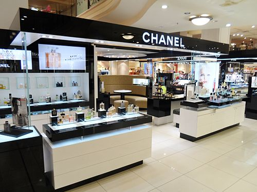 Fragrance and Skincare counter at Australian department store MYER in Sydney Chanel MYER Sydney City 2013.jpg