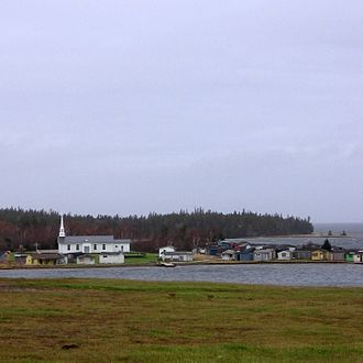 Potlotek First Nation - Chapel Island, from which the First Nation takes its name.