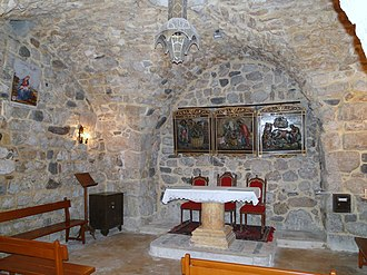 House of Saint Ananias - Inside the Chapel of Saint Ananias