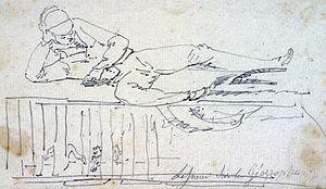 Charles Alexandre Lesueur - Self portrait from le Géographe