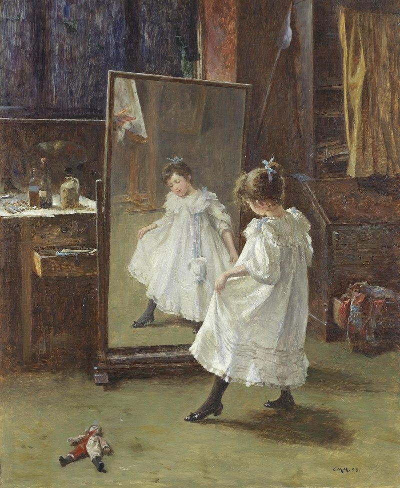 Charles Martin Hardie The studio mirror.jpg