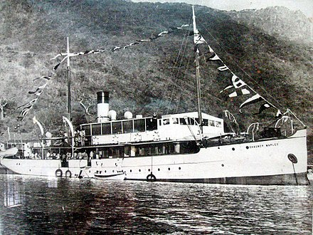 The SS Chauncy Maples on Lake Nyasa