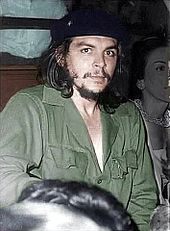 c3af3aa3c874 Guevara in his trademark olive-green military fatigues and beret