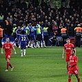 Chelsea 1 lLiverpool 0 (2-1 agg) Capital One Cup semi final 2nd leg On our way to Wembley! (16390771995).jpg
